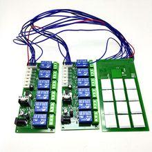 Módulo de botón táctil capacitivo de 12 canales con tablero de relé, fuente de alimentación de 12V, función de punto de autosujeción