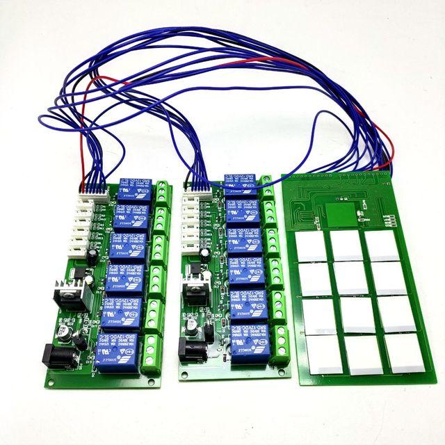 Module de boutons tactiles capacitif à 12 canaux, avec carte de relais, alimentation électrique 12V, fonction points autobloquants