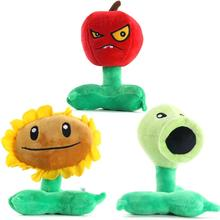 3Pcs/Set Plants Vs Zombies Figure Peashooter Sunflower Cherry Bomb Plush Stuffed Animals Doll Kids Toys 16 18CM High