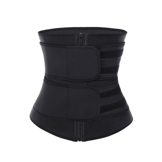 Women Sweat Waist Trainer Corse Belt Neoprene Slimming Body Shaper With Sticker Postpartum Recovery Tummy Control Plus size