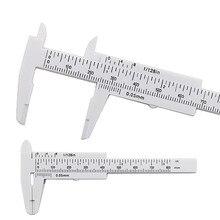 80 мм Мини измерительный инструмент пластиковый студенческий раздвижной штангенциркуль измерительный инструмент штангенциркуль