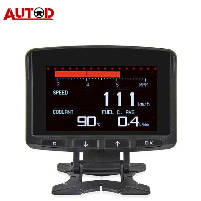 A208 OBD2 קירור טמפרטורת מד אבחון כלי מדחום דיגיטלי שעון DC12 24V רכב שעון מד מתח מתח Tester
