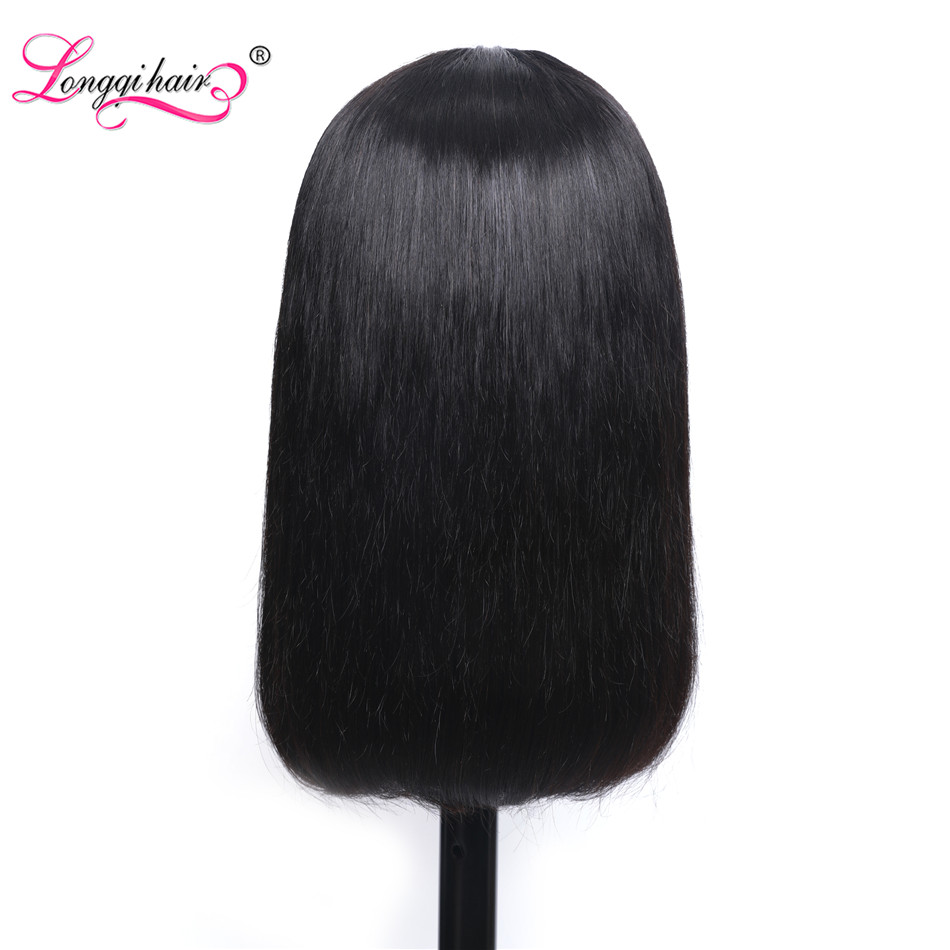 Image 5 - Longqi Highlight 27# Bob Lace Front Wigs High Ratio 150% 13x4 Lace Front Human Hair Wigs Remy Brazilian Straight Lace Front Wigs-in Lace Front Wigs from Hair Extensions & Wigs