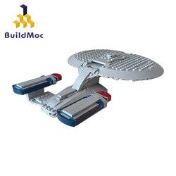 Buildmoc 12916 star treks-série brinquedos nave espacial NCC-1701 empresa d bloqueio runner definir blocos de construção educacionais crianças presentes
