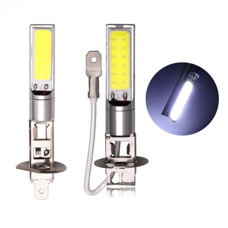New H1/H3 LED Fog Lights Headlight White 6000K COB LED Headlight Hi/Lo Beam Bulbs Driving Lamps Universal High Quality