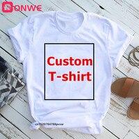 Women's DIY Print Tshirt Female Customzie Tops Tee,Drop Ship