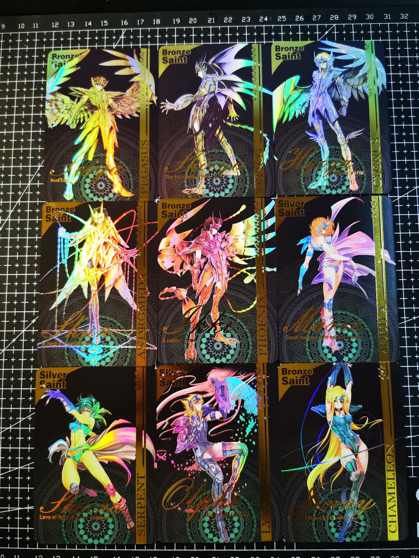 11pcs/set Saint Seiya Fourth bomb Toys Hobbies Hobby Collectibles Game Collection Anime Cards