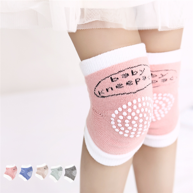 1 Pair Boys Gilrs Knee Sleeve Kids Leg Warmers Protector Safety Crawling Protector Cushion Infant Toddlers Soft Kneecap D0238