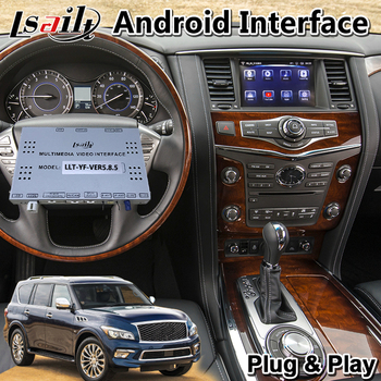 Android Car GPS Navigation Multimedia Video Interface for Infiniti QX80 2018-2020 year image