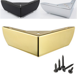 4pcs Metal Furniture Leg Gold / Black Coffee Table Leg Sofa Foot Screw with Floor Protecter Pads Furniture Accessories Hardware