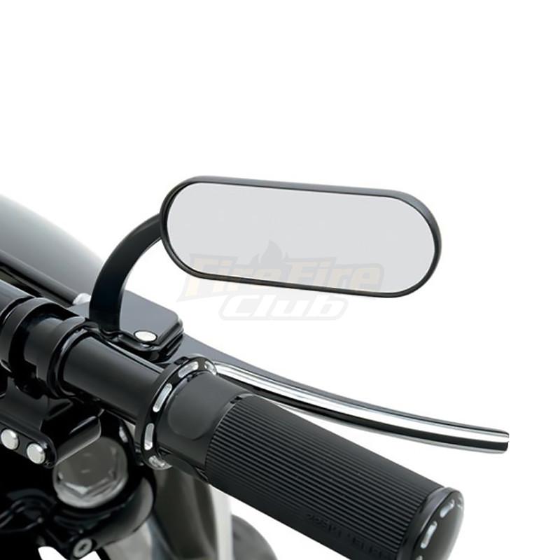 For Harley Touring Electra Glide Dyna Fatboy Softail Sportster Universal Black Motorcycle 8/10mm Rearview Mirror Side Mirrors