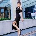 Элегантная юбка Стразы с бахромой для женщин 2021 Новинка сексуальное минималистичное облегающее платье с V-образным вырезом и открытыми пле...