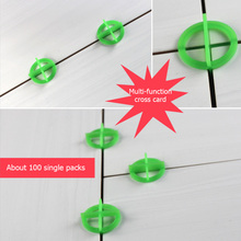 цена на 100pcs Cross Space Tile Leveling Recyclable Plastic Tile Leveling System Base Spacer Floor Wall Leveler For Contrution Tools