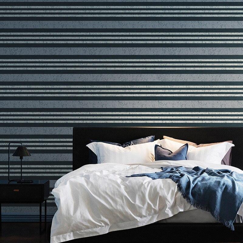 Vintage bleu kaki rouge bandes papier peint bricolage décor ménager épais pvc étanche à l'humidité 5.3 mètres carrés moderne maison papier peint