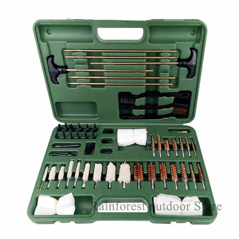 Tactical Universal Gun Cleaning Kit Supplies Gun Cleaner Brush 10 24 62Piece .22 22LR .223 556 Rifle Tool Hunting Accessories