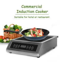 Commercial Induction Cooker 3500W Multi Functions Fast heating Energy Saving Heaving loading Capacity for Party Cooking.