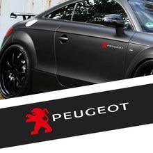 1/2 шт. автомобильные аксессуары ствол окна тела декор Стикеры для Peugeot 207 301 308 308S 309 405 3008 407 408 605 607 806 807 RCZ 508