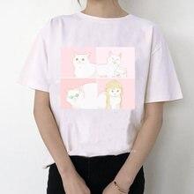 Свободная Женская футболка в стиле Харадзюку женская с забавным
