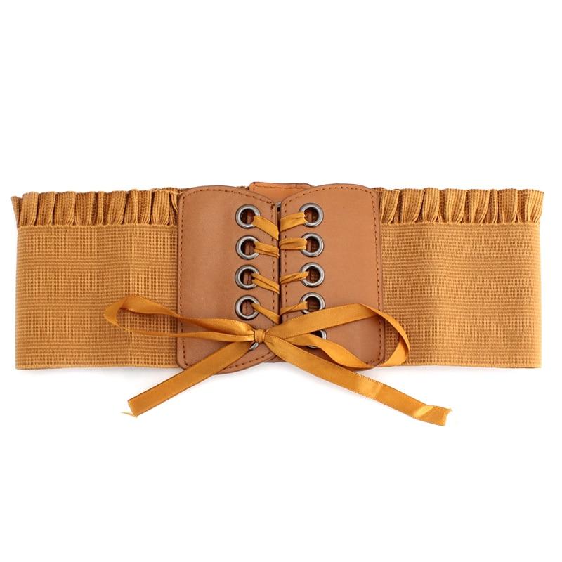 Plus Size Corset Belt For Womens 2020 Fashion Lace Up PU Leather Luxury Belt Cinch Tie Corset Waist Wide Belt WaistbandW