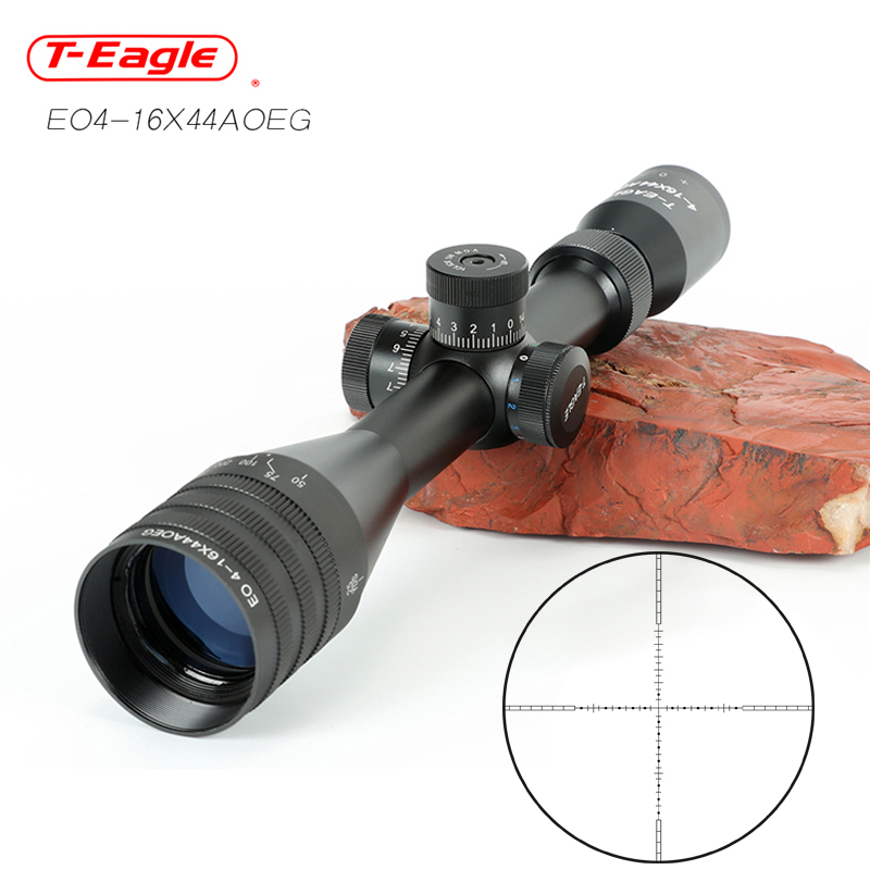 Teagle EO 4-16x44AO  Tactical Optic Sight Green Red Illuminated Riflescope Hunting Rifle Scope Sniper Airsoft Air Guns Red Dot
