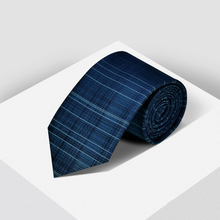 Fashion Business Casual Mens Ties Cyan Silk Fabric Check Tie Gifts for Men Groom Accessories Wedding Luxury Neckties
