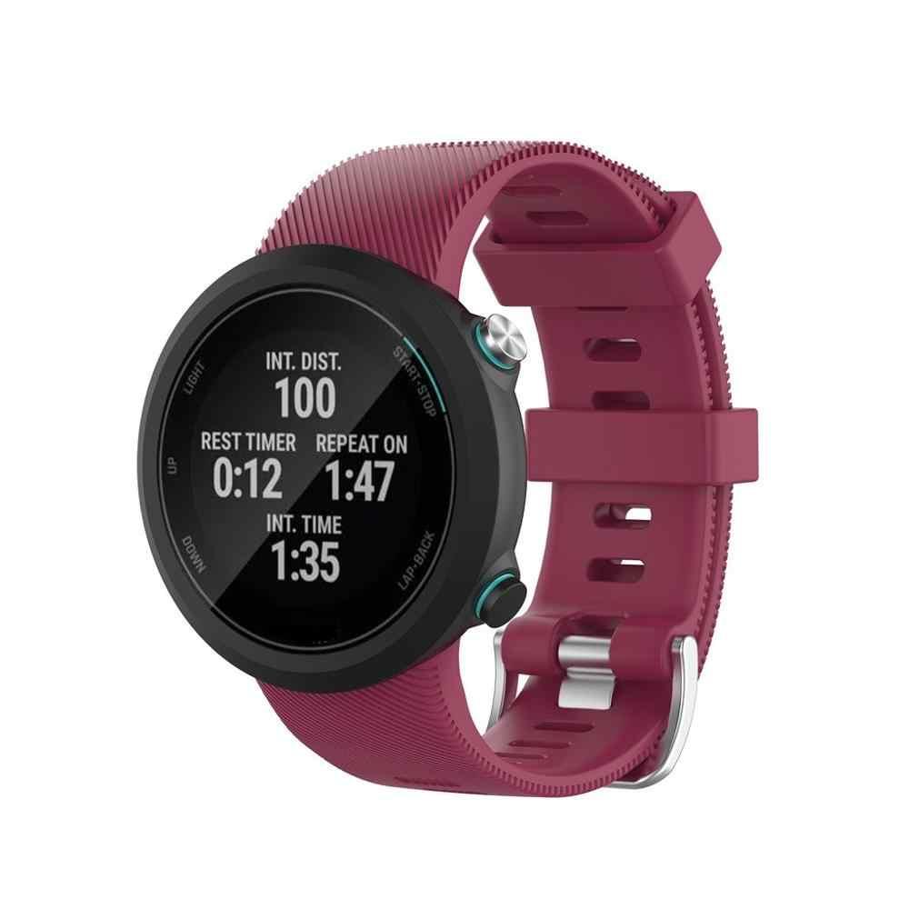 Wymiana silikonowy pasek do zegarków miękki pasek do Garmin Swim 2 taśma metalowa bransoletka z paskiem na rękę opaski