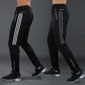 New Sports pants Men Running Pants zipper Athletic Football Soccer pant Training sport Pants Elasticity jogging Gym Trousers