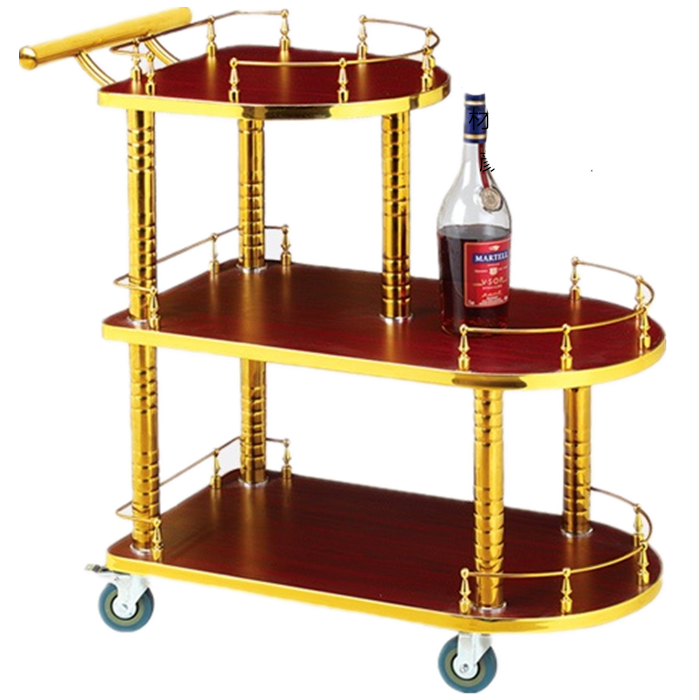 New Wine Cart High-grade Snack Car Mobile Tea Cart Hotel Wine Cart 4S Shop Bank Stroller Beauty Car