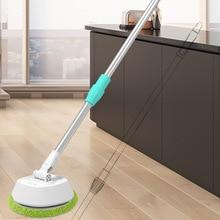 Cordless Electric Telescopic Cleaner Ultra Thin Fiber Cloth Wipe Floor Window Automatic
