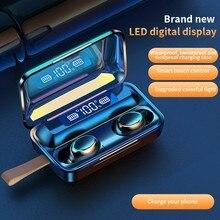 TWS Bluetooth Earphone V5.0 9D Stereo Wireless Headphones Sport Waterproof Earphones Mini True Wirel