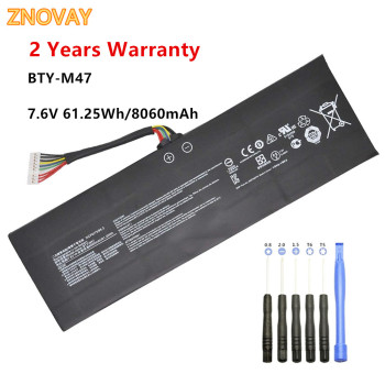 Laptop Battery BTY-M47 for MSI GS40, GS40 6QE-055XCN, GS43,GS43VR 6RE-045CN Series 2ICP5/73/95-2 Notebook 7.6V 61.25Wh 8060mAh msi gs43vr 7re 202xru phantom pro black