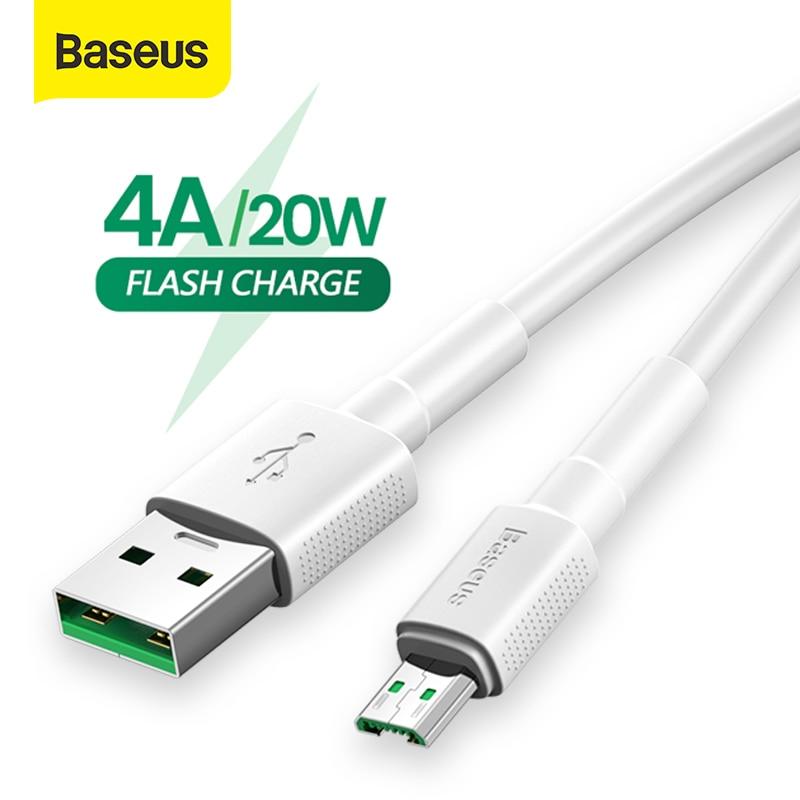 Baseus mikro USB kablosu için OPPO 4A VOOC opfo hızlı şarj kablosu mikro USB şarj kablosu Samsung not 4 Xiaomi piksel 2 veri kablosu