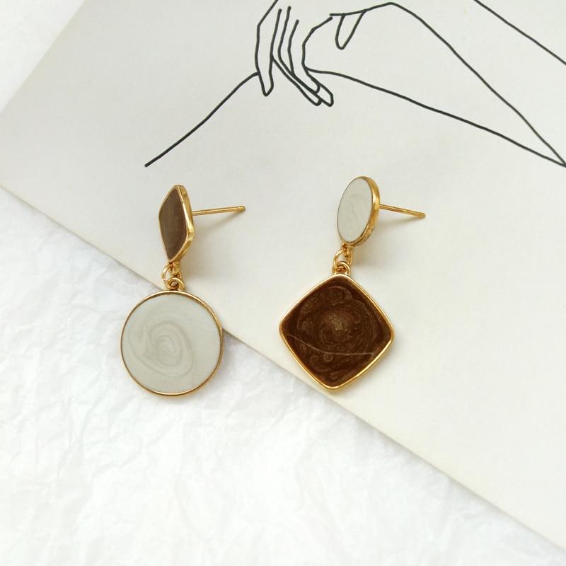 Fashion women earrings circular color earrings geometry gold plated fine earrings earrings for women in Stud Earrings from Jewelry Accessories
