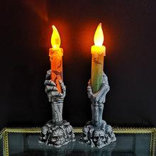 Halloween Dekoration Lichter Schädel Geister Party Kerze Lichter Led Kürbis Party Happy Halloween Party Decor Für Home 2021 tanie tanio CN (Herkunft)