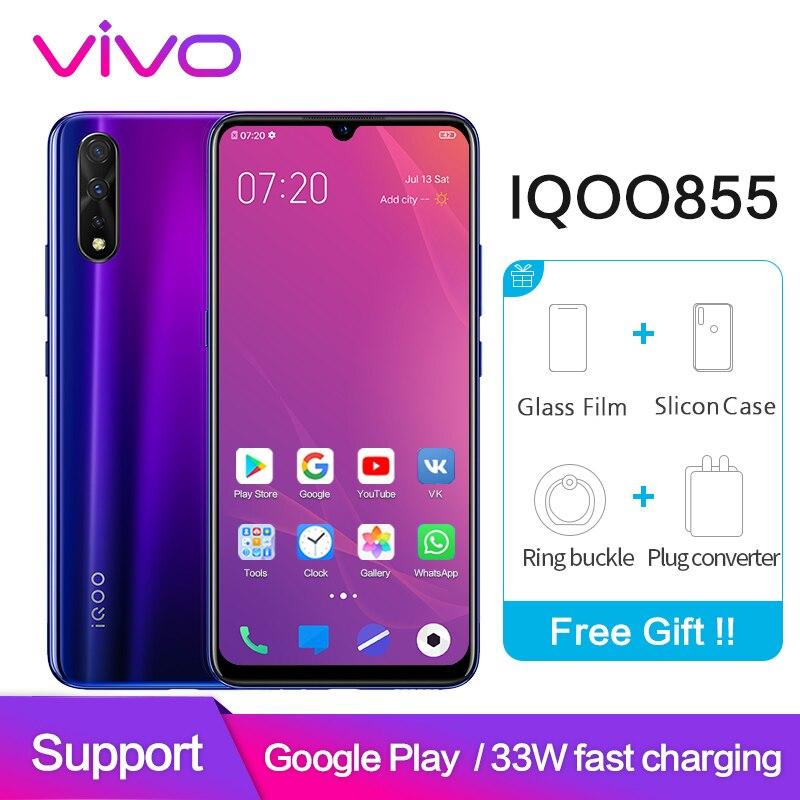 vivo iqoo neo 855 Google Play Smartphone 6GB 128GB Snapdragon Octa Core 4500mAh 33W Dash Charging Celular Android Cell Phone