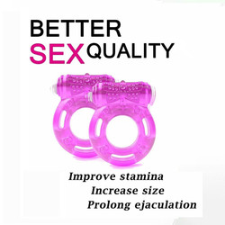 Couple Sexy Toy Elastic Delay Ring Vibrating Cock Stretchy Intense Clit Stimulation Premature Ejaculation Lock Adult Vibrator