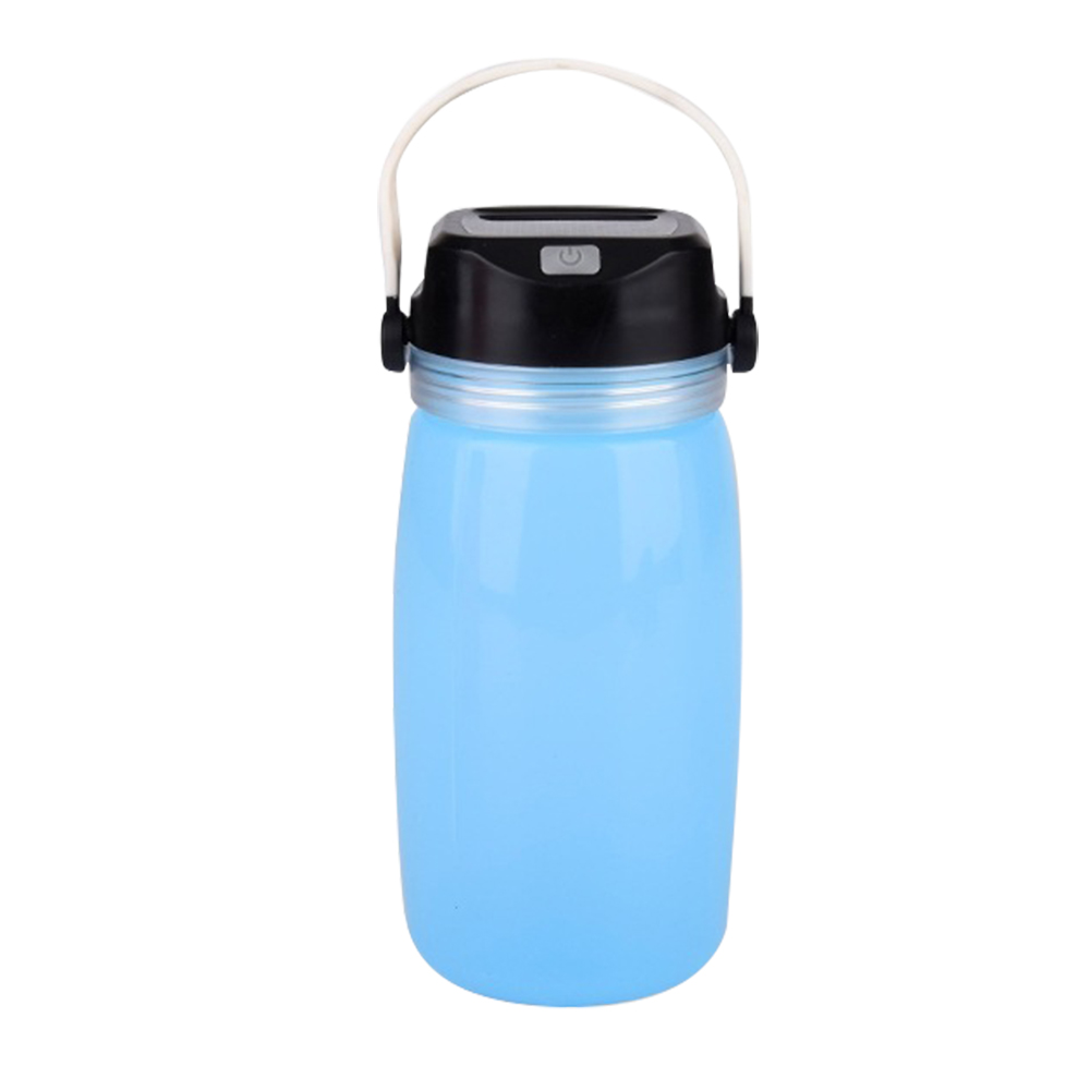 Portable Solar LED Camping Light 3-Mode Waterproof Camp Tent Lamp USB Rechargeable Power Bank Emergency Water Bottle Lantern
