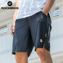 ROCKBROS Running Shorts Unisex Clothing Exercise Gym Shorts Spandex Jogging Fitness Breathable Cycling Outdoor Sports Equipment