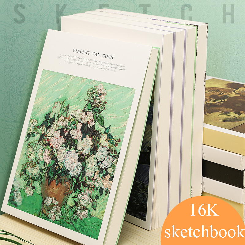 16K Sketchbook Thick Sketch Book Creative Blank Paper Painting  Hand-painted Sketch Book Art Supplies