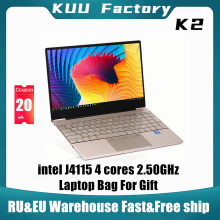 KUU K2 For Intel Celeron J4115 14.1-inch IPS Screen All Metal Shell Office Notebook 8GB RAM 256GB/512GB SSD with type C laptop