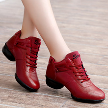 Spring/Autumn Women Shoes Flat Platform Shoes Woman Leather Fashion Casual Sneakers Soft Bottom Comfortable Lace-up Dance Shoes недорого