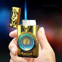 Часы с большим циферблатом цветные огни металлическая ветрозащитная