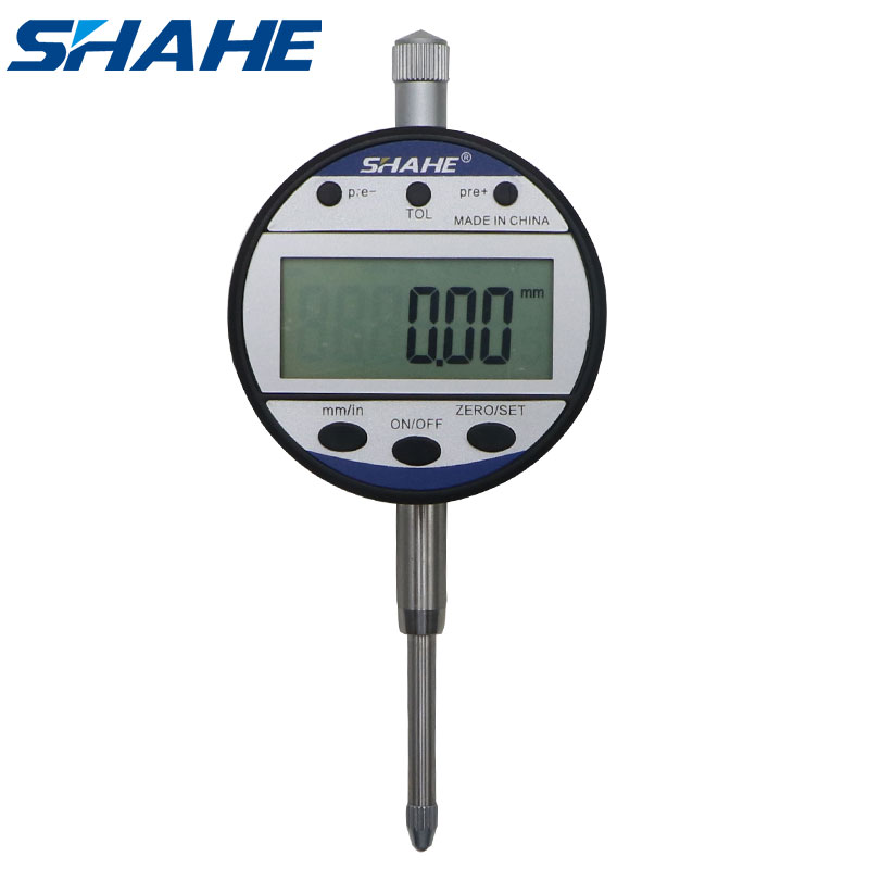 SHAHE new type indicator 0-25 4 mm  0 01 mm digital dial gauge  precision measurement tools digital dial indicator