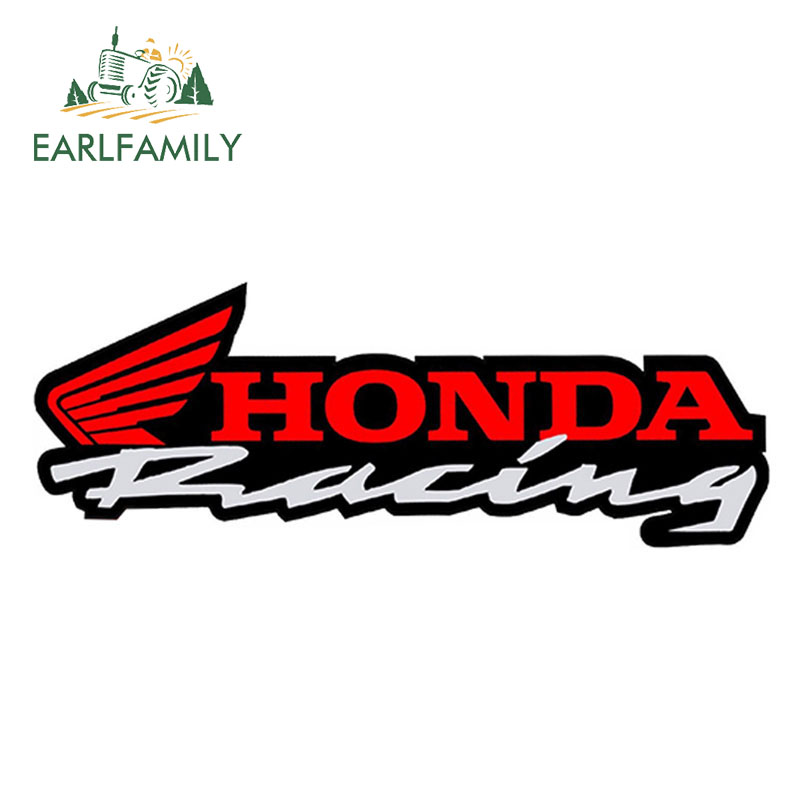 EARLFAMILY 15cm X 5.3cm Car Styling For HONDA Vinyl Graphic Car Stickers Rearview Mirror Side Decal Racing Auto Moto Car Helmet