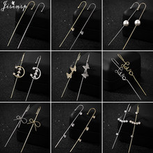 Boucles d'oreilles à clous en Zircon pour femmes et filles, style bohémien, 2021