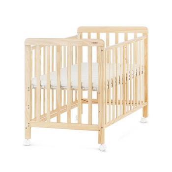 2020 Multifunctional Baby Crib Crude Wood Healthy Water-based Care Baby Good Sleep suitable for 0-36 month Universal Wheel FSC&