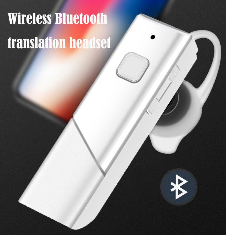 HobbyLane HT20 Smart Voice Translator Wireless Headset Bluetooth5.0 Earphone Multi Languages Instant Real-time Translation D30