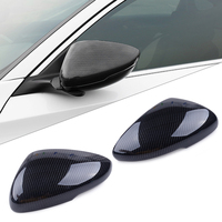 beler 2PCS Carbon Fiber ABS Car Auto Rearview Side Mirror Cover Trim Frame Fit for HONDA ACCORD 2018