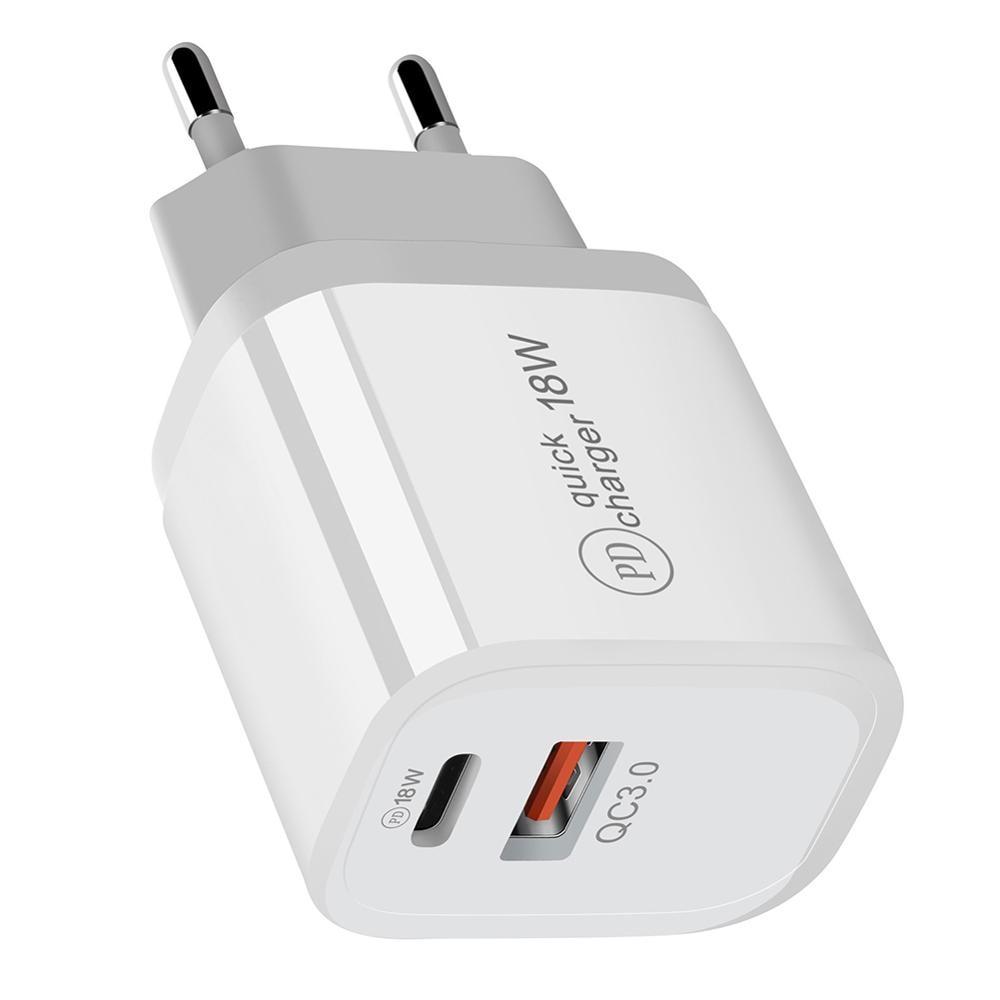 18w pd qc 3.0 dupla usb carregador de carga rápida ue eua ue au plug para iphone x 8 plus nota 9 10 entrega energia adaptador do telefone móvel