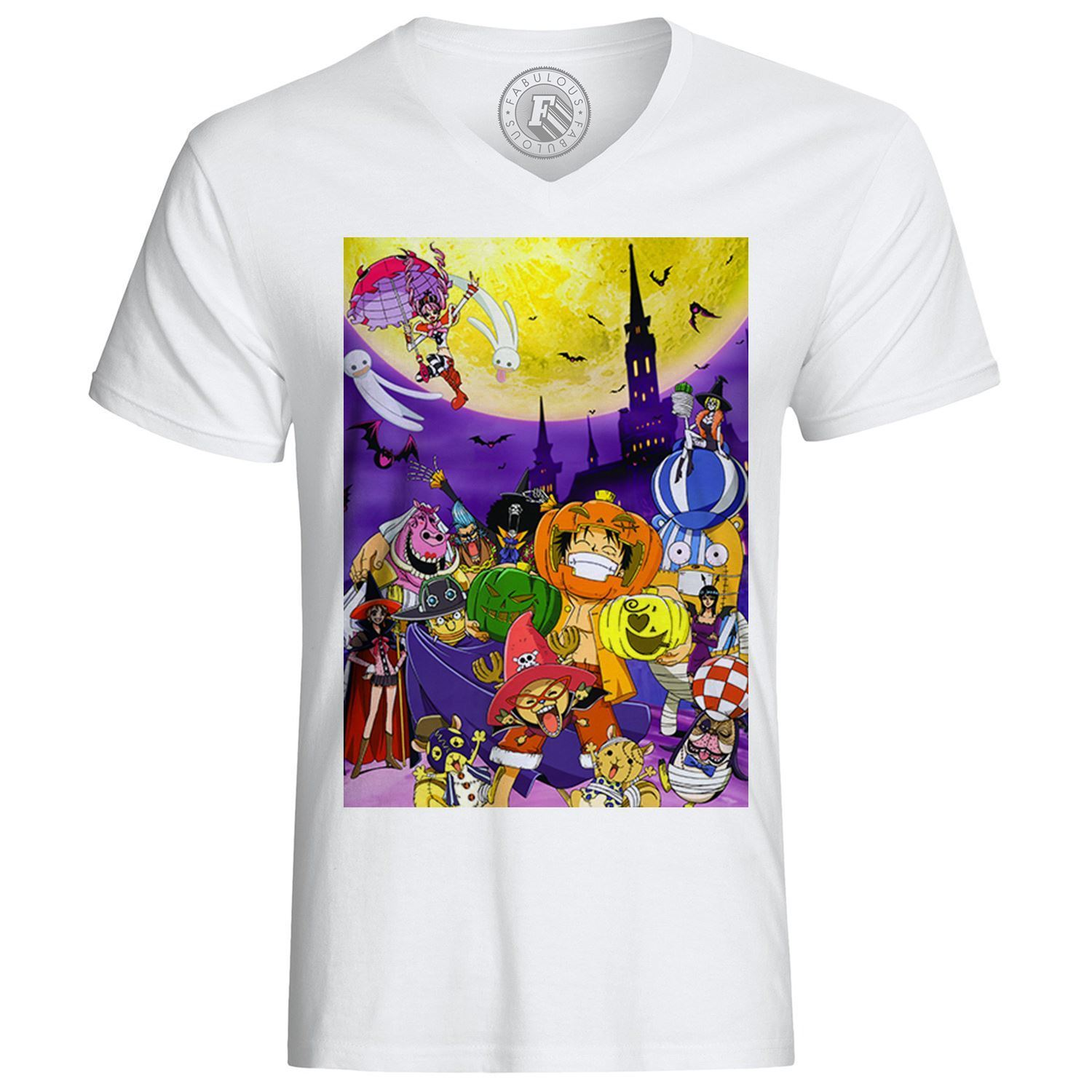 T-shirt one piece thiller bark arc manga luffy pirates- show original title Tee Shirt Casual Short Sleeve image